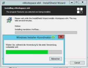 vWorkspace Windows Installer-Koordinator